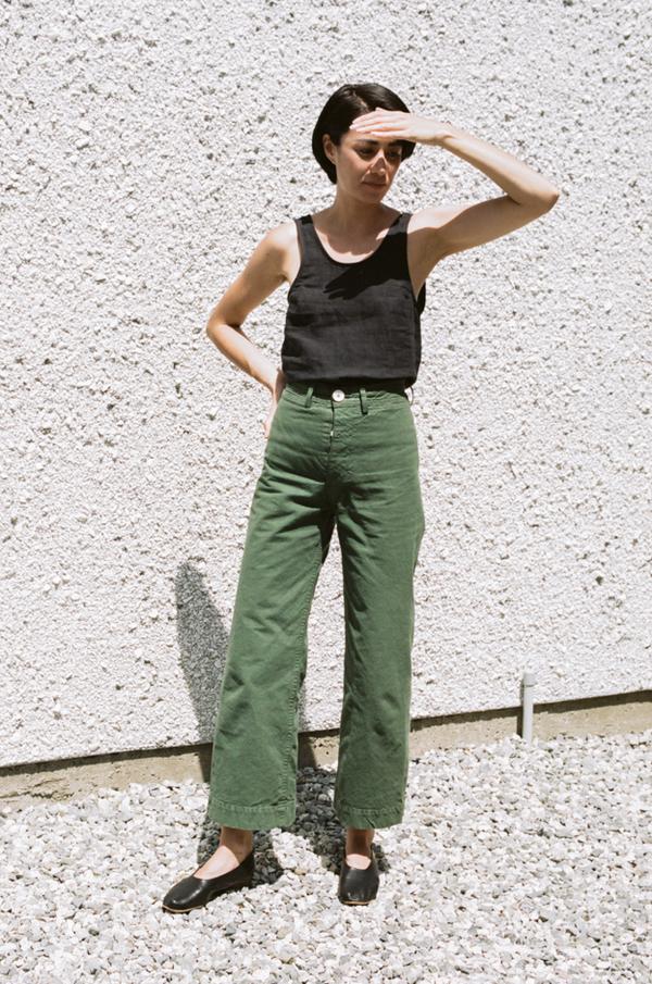 Jesse Kamm Sailor Pant - olive
