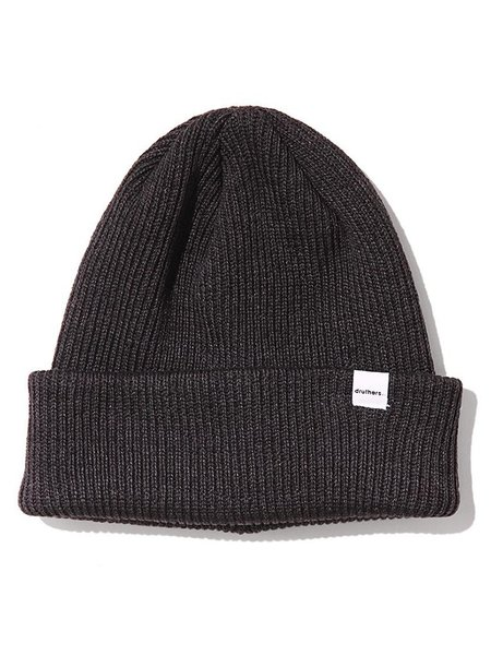 Druthers 1 x 1 Ribbed Beanie - Charcoal