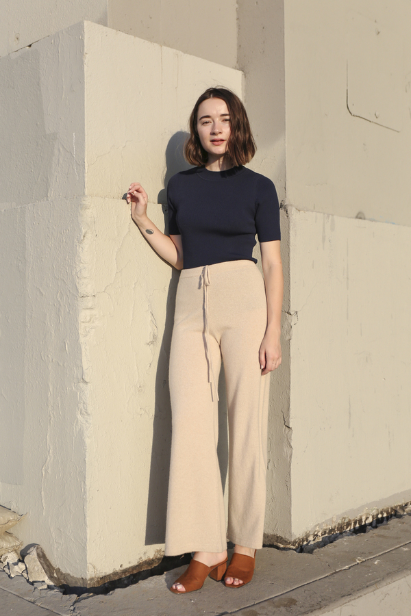 PRE-ORDER - Objects Without Meaning Cashmere Sweater Pant, Oat