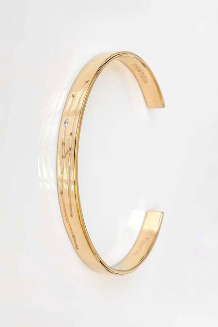 Thatch Constellation Cuff - 14k Plated Gold