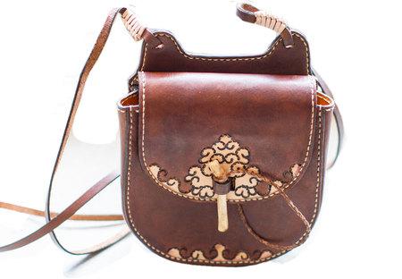 Kias Leather Handmade Small Round Purse