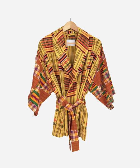 COATZ Kente Coat - Yellow
