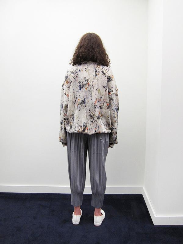 Issey Miyake Fluffy Pleat Pant - Light Grey
