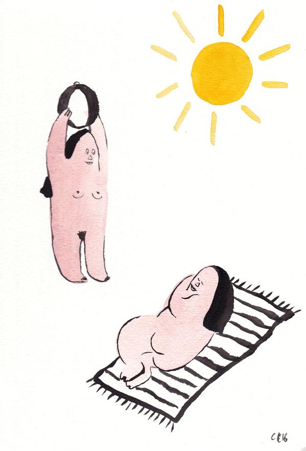 Camilla Engstrom Sleepy on blanket