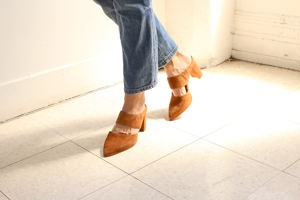 Intentionally Blank MISSY COGNAC SUEDE