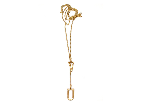 Seaworthy Oxalis Lariat Necklace