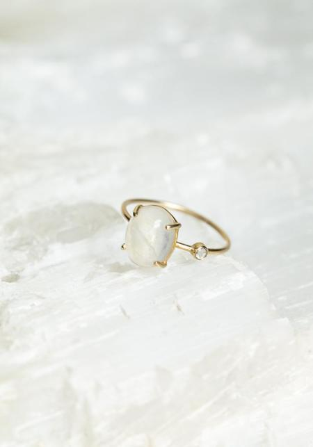 WORKHORSE Katherine Diamond and Moonstone Ring