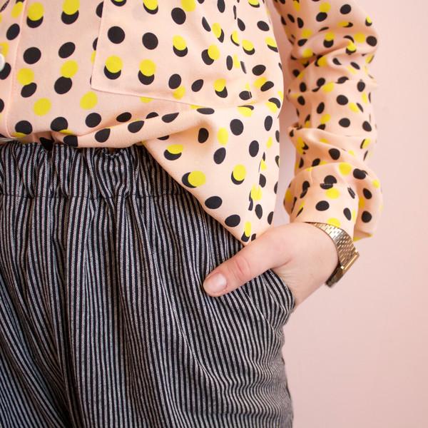 Dusen Dusen collared buttondown - peach double dot
