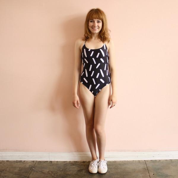 confetti swim suit