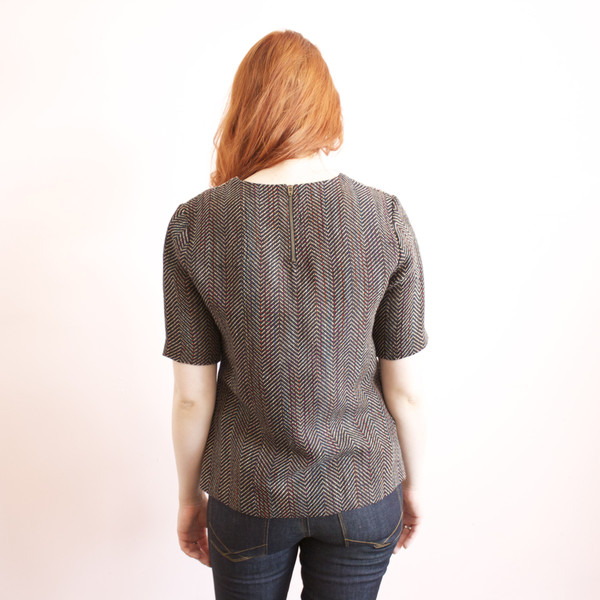 Carrie Parry Contrast Yoke Top