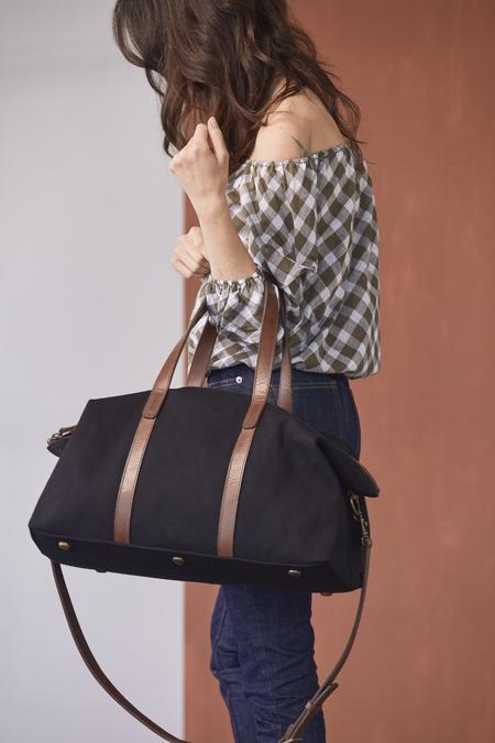Nisolo Canvas Weekender bag - Black