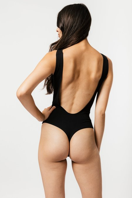 Mary Young Backless Thong Bodysuit - Black