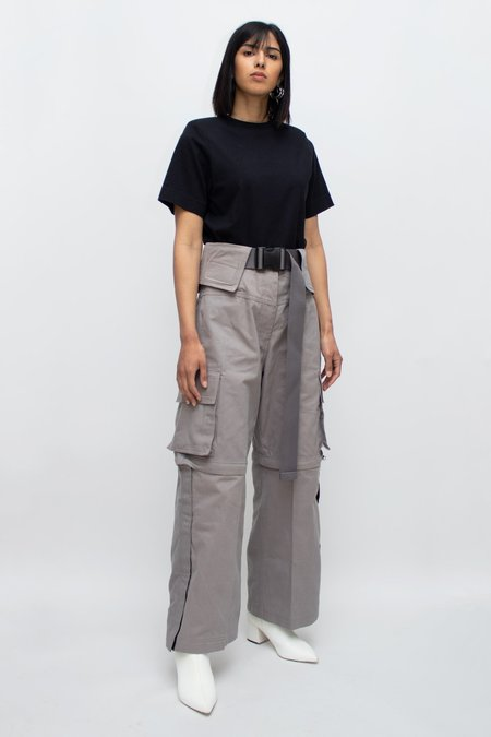 Kanak Escargo High Waisted Pants - Smoke
