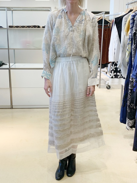 MII organza skirt with wool overlay - off white