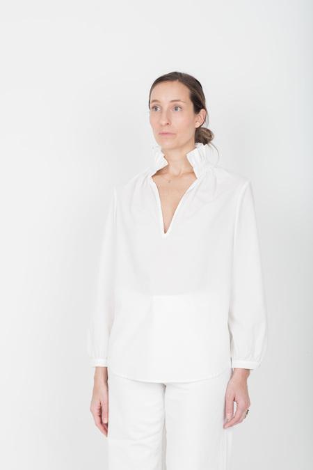 Pley Faye Ruffle Collar Shirt - White