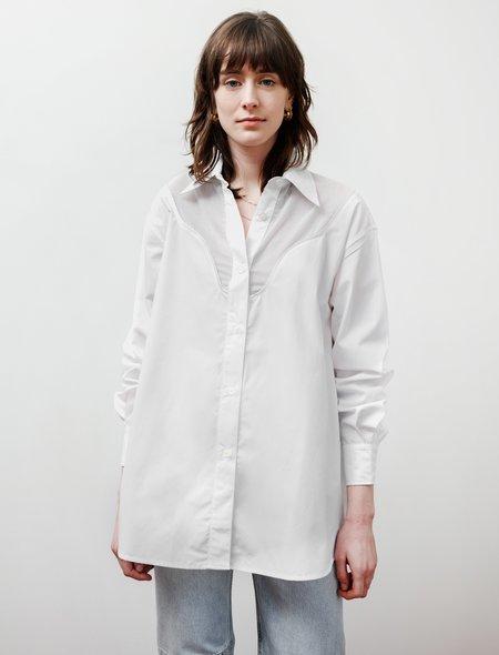 Our Legacy Lend Cut Lines Shirt - White