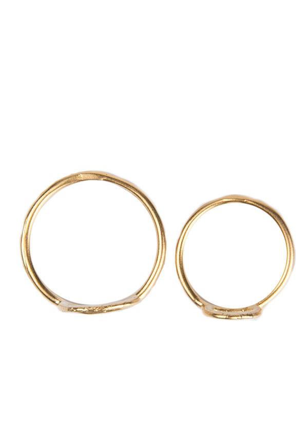 Takara - Crown Midi Ring Set in Gold