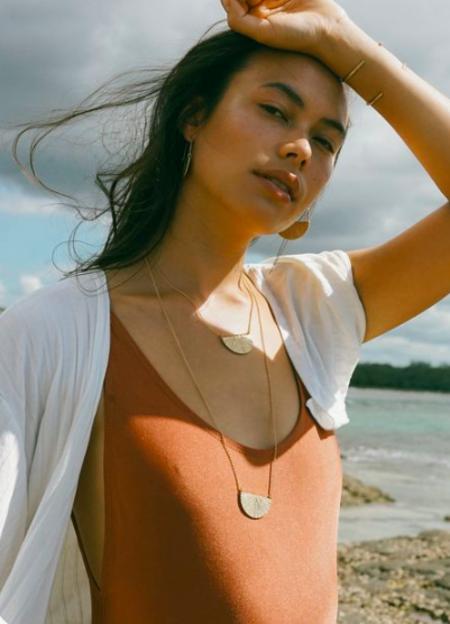 Amanda Hunt Sunrise Necklace - Bronze