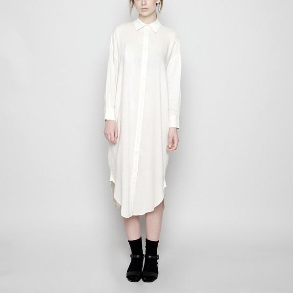 7115 by Szeki Dolman Shirt-Dress- Light Beige FW16
