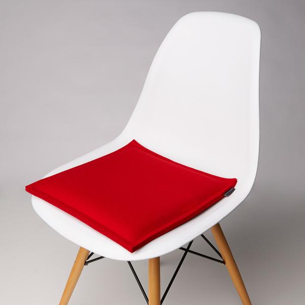 Zabuton Red Square Seat Pad