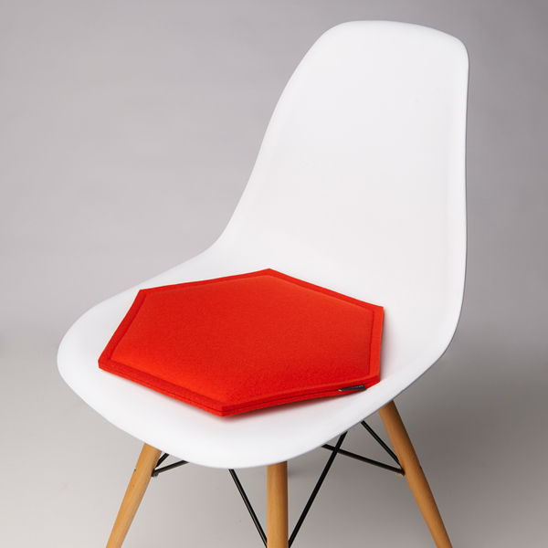 Zabuton Orange Honeycomb Seat Pad