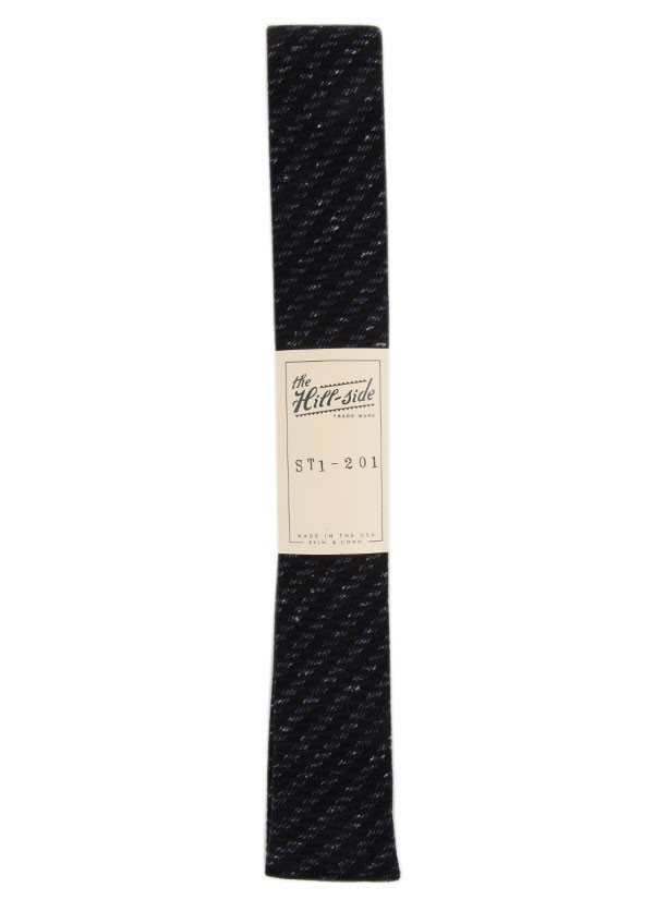 The Hill-Side - Beach Cloth Stripe Necktie, Black and Navy