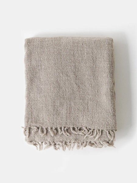 shokino  khadi wool throw - oat