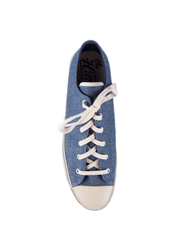 The Hill-Side - Chambray Low Top Sneaker in Indigo