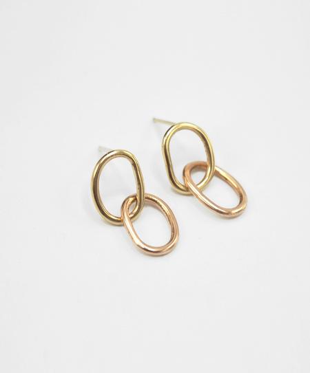 Susumi Studio Link Earrings - Rose Yellow Gold