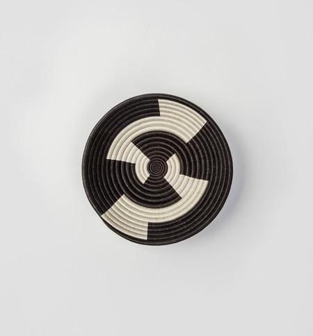 Indego Africa Black Zigzag Plateau Basket
