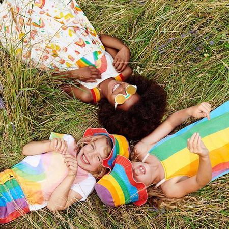 kids Stella McCartney Child Painted Rainbow Print T-shirt - White