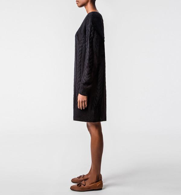 Ryan Roche Fisherman Sweater Black