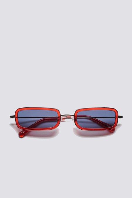 Sun Buddies Metal Jet Sunglasses - Silver/Red