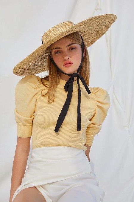 En Saison Puff Sleeve Sweater - Yellow