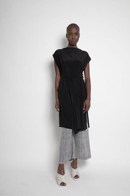 H. Fredriksson WRAP DRESS - black
