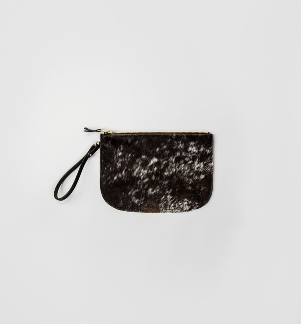 CHC Salt & Pepper Lune Clutch