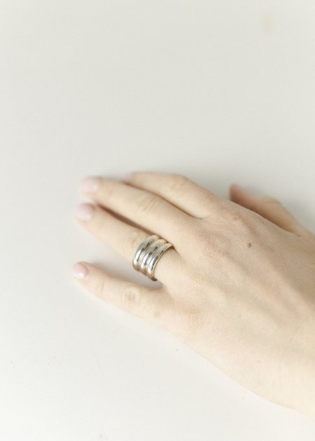 Melodie Borosevich Jewelry Triple Stacked Ring - sterling silver