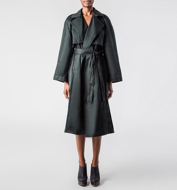 Kowtow Trench Coat Green