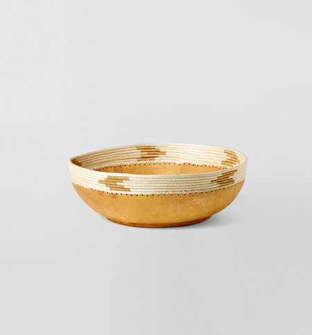 Indego Africa White & Tea Copabu Bowl