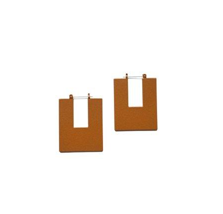 Natalie Joy ANNI hoop earrings - Rust
