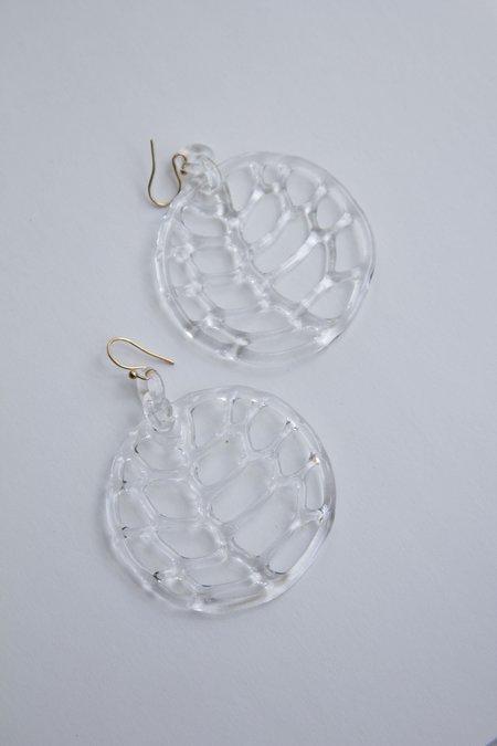 Jane D'Arensbourg Lattice Circle Hoop Earrings