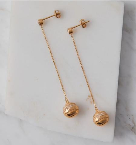 Natalie B. Jewelry Gatsby Earring - 14k Gold Plated