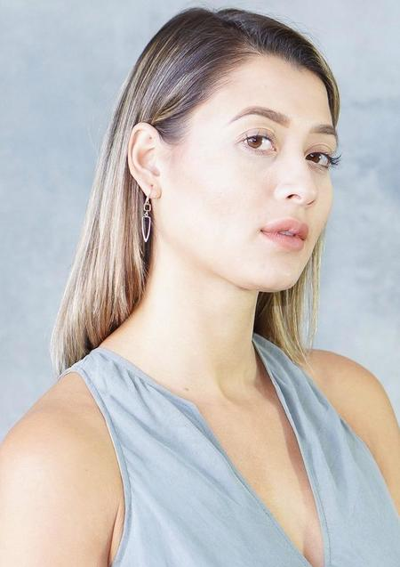 Melissa Joy Manning Square Triangle Drop Earrings - 14K Gold/Silver