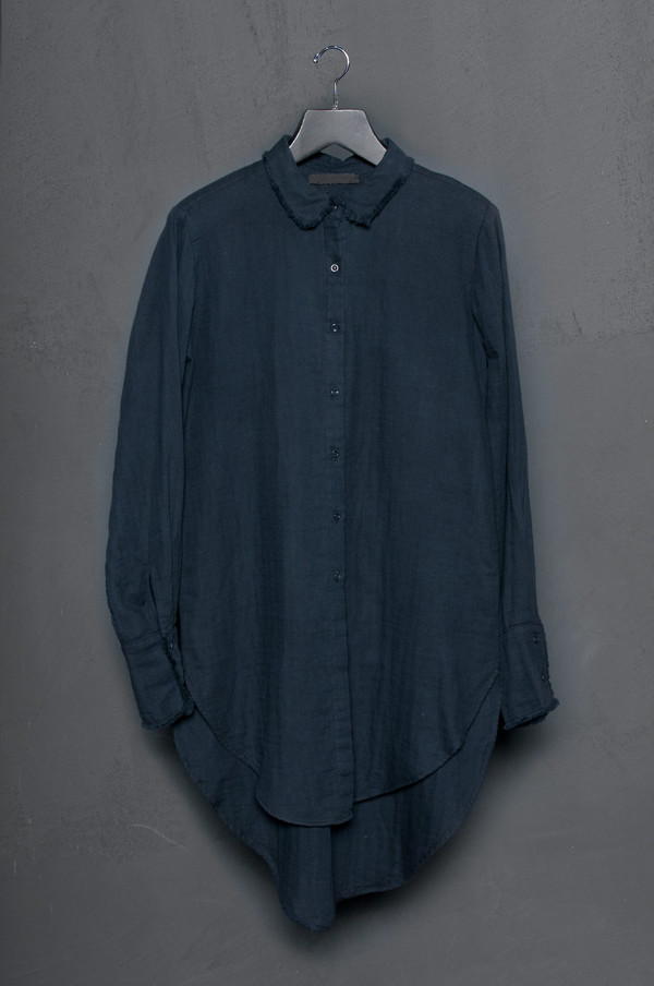 KES Raw Edge Washed Cotton Button Up