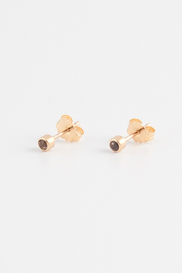 Emi Grannis Perfect Smokey Quartz Studs