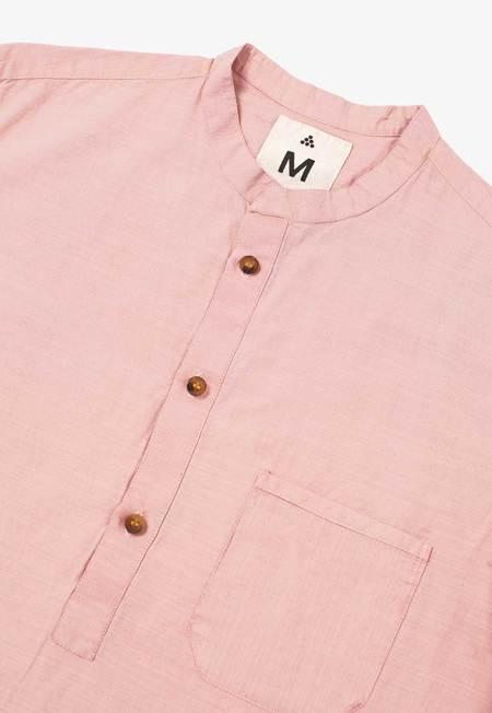 New Market Goods Madder Popover Shirt - Pink