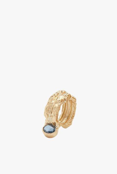 Fie Isolde Alfa Precious Stone Ear Cuff - 14k yellow gold