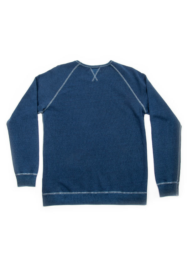 The West is Dead - Mens Crew Neck Sweatshirt in Dark Indigo