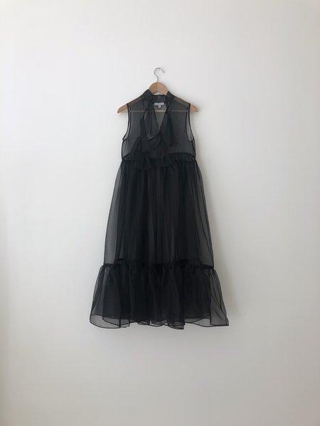 Kamperett MAE SILK ORGANZA DRESS - BLACK