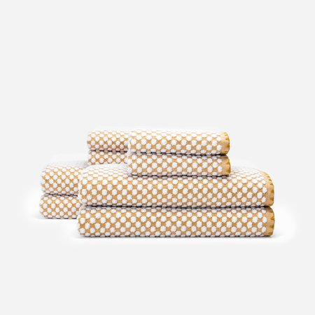 Slowtide Clive Four Piece Bundle Towel - Mustard